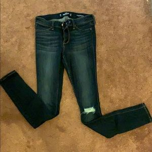 Hollister size 0r low rise jean legging
